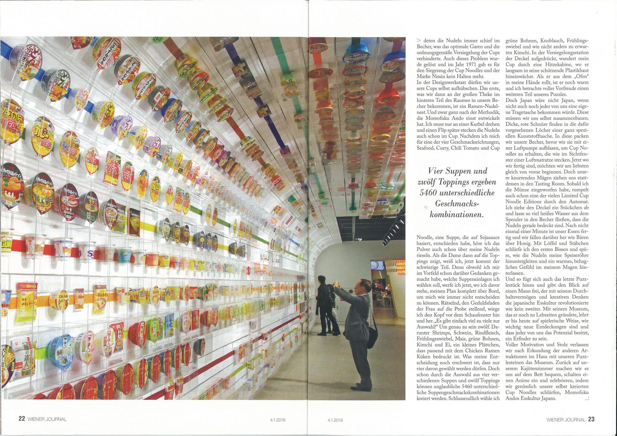 Wiener Zeitung Artikel Instant Ramen Museum Osaka - Nicole Bühringer - Open your Wings Der Asien Blog