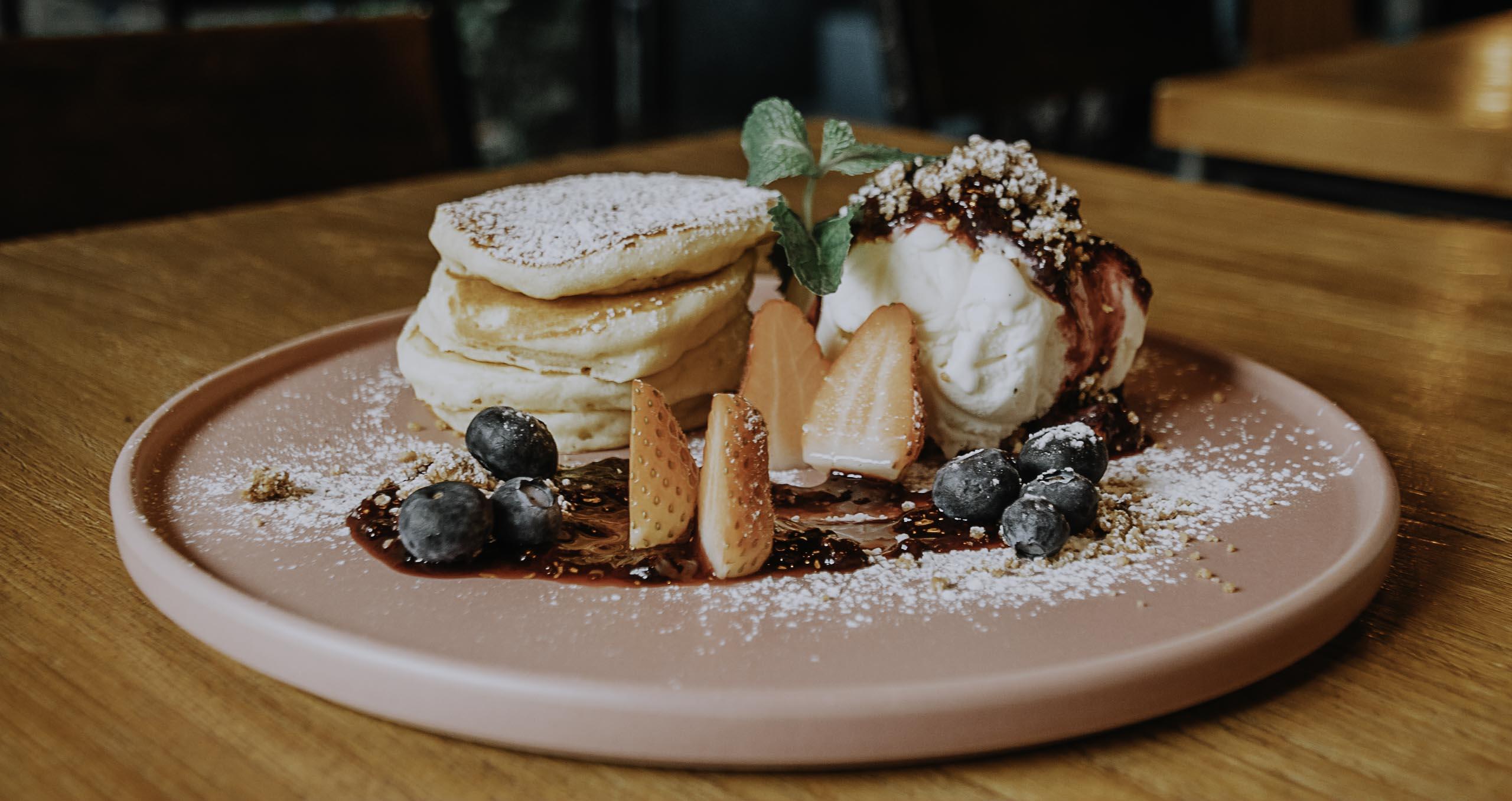 Pancake im Blue Whale Café
