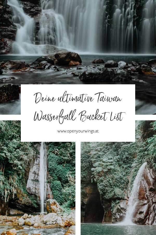 Pin it! Taiwan Wasserfall Bucket List