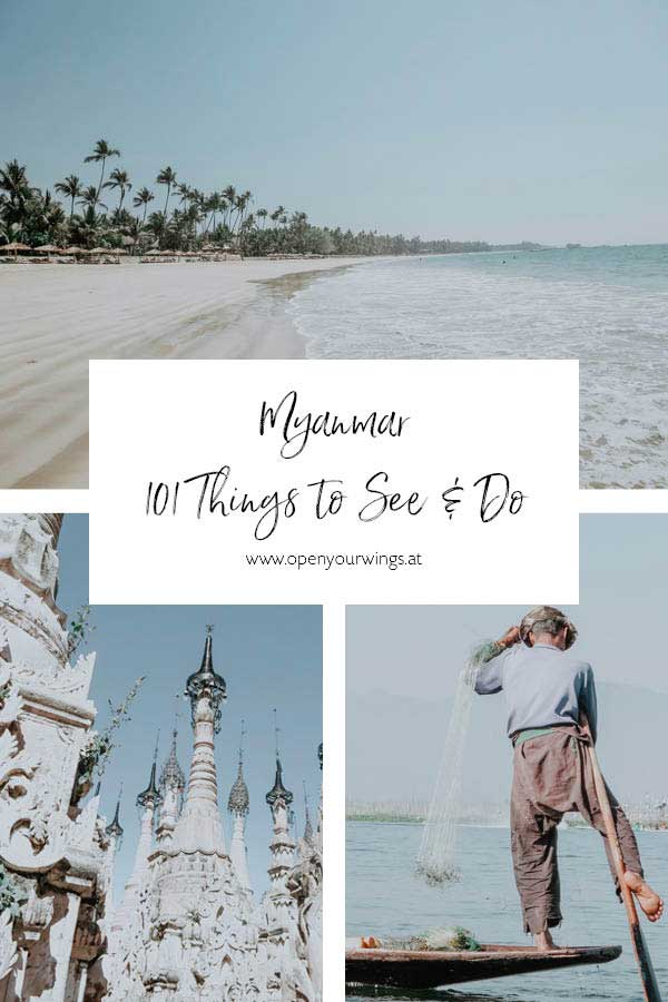 Pin it! Myanmar - 101 Things to See and Do