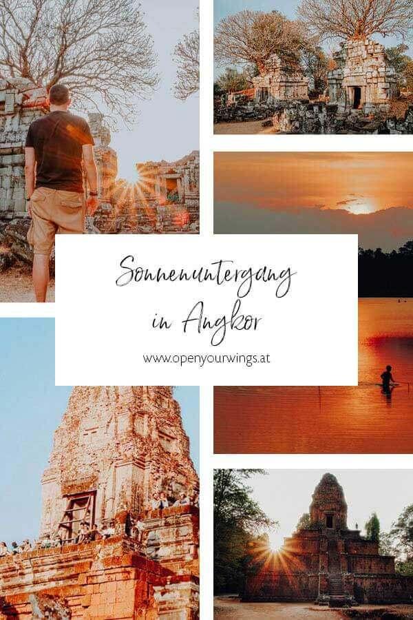Pin it! Sonnenuntergang in Angkor - Die schönsten Plätze