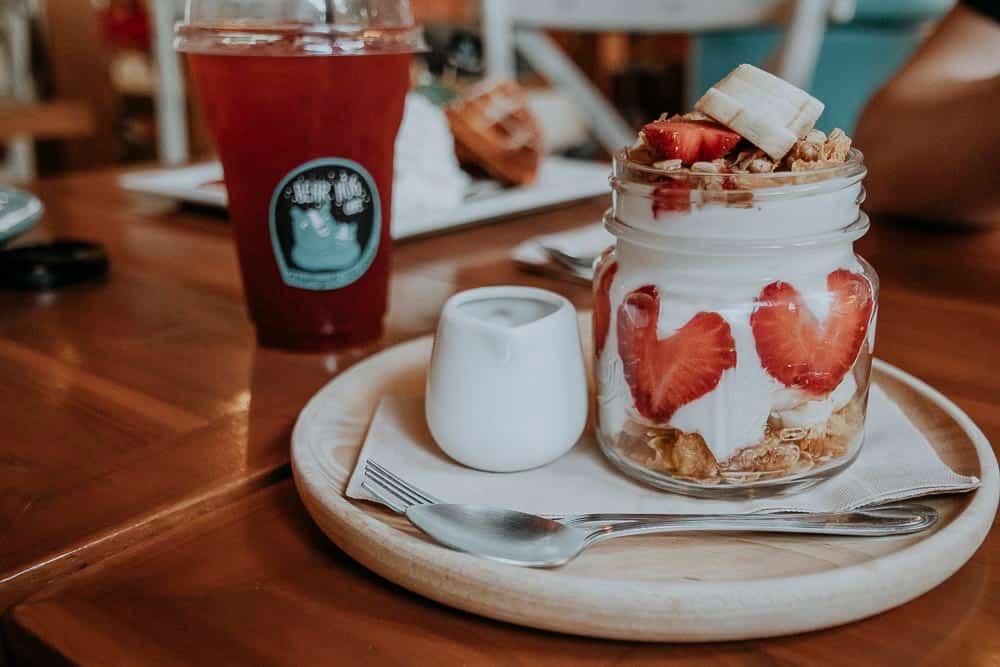 Joghurt im Bear Hug Cafe