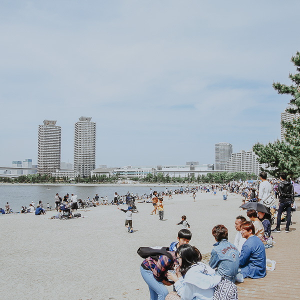 Odaiba Beach Tokio - Japan - Off the beaten Track - Open your Wings